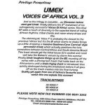 Buy Voices Of Africa Vol. 3